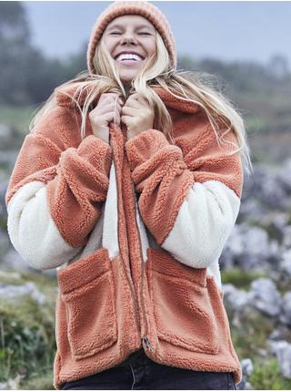 Bílo-oranžová pruhovaná bunda Roxy