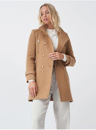 Světle hnědý dámský kabát Salsa Jeans Casaco Fazenda Básica