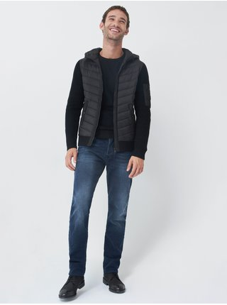 Černá pánská prošívaná bunda Salsa Jeans Casaco Tricotado