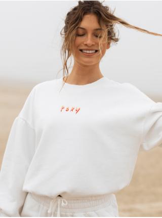 Bílá dámská cropped mikina s nápisem Roxy Days Go By