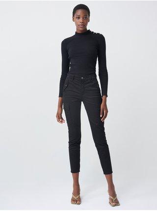 Čierny dámsky rebrovaný sveter Salsa Jeans Camisola
