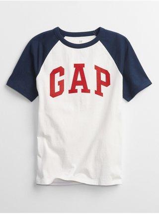 Chlapci - Dětské tričko GAP Logo short sleeve Bílá
