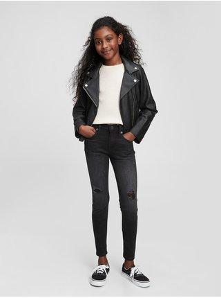 Dívky - Dětské džíny skinny Černá