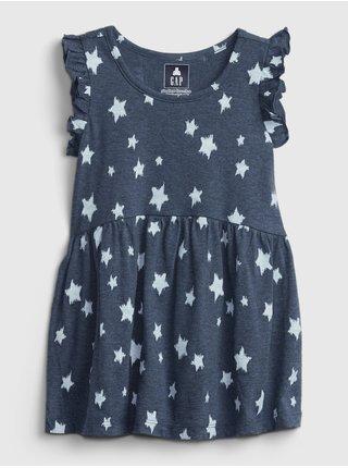 Dívky - Dětský top sleeveless printed tunic Modrá