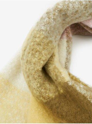 Šatky, šály pre ženy ONLY - žltá, svetlohnedá