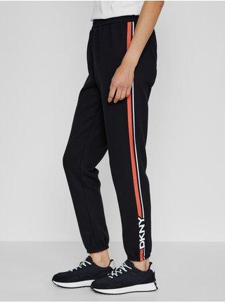 Nohavice pre ženy DKNY - čierna, oranžová, biela