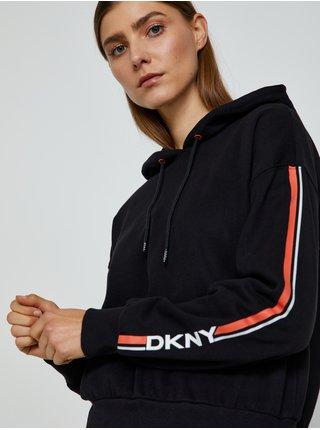 Mikiny pre ženy DKNY - čierna, oranžová, biela