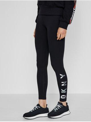 Legíny pre ženy DKNY - čierna, strieborná
