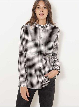Černo-bílá kostkovaná košile CAMAIEU