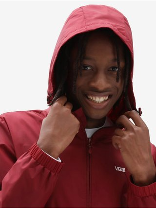 Bílo-červená pánská bunda VANS Garnett