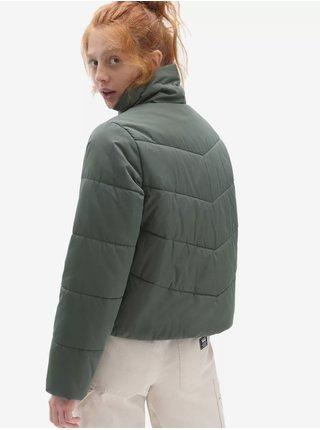 Tmavě zelená dámská prošívaná bunda VANS Foundry