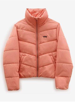 Růžová dámská prošívaná bunda VANS Foundry