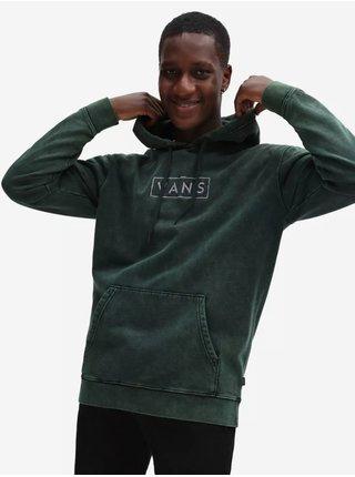 Tmavě zelená pánská mikina s kapucí VANS Easy Wash