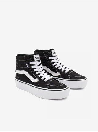 Bielo-čierne dámske členkové topánky VANS Filmore