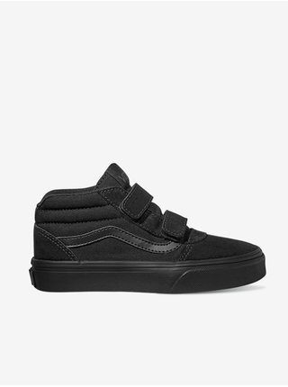 Černé klučičí semišové boty VANS Ward Mid