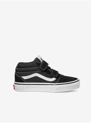 Bílo-černé klučičí semišové boty VANS Ward Mid
