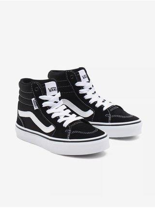 Bílo-černé klučíčí kotníkové semišové boty VANS Filmore