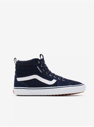 Bílo-modré pánské kotníkové semišové boty VANS Filmore Hi