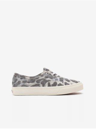 Šedé dámské semišové boty se zvířecím vzorem VANS Authentic