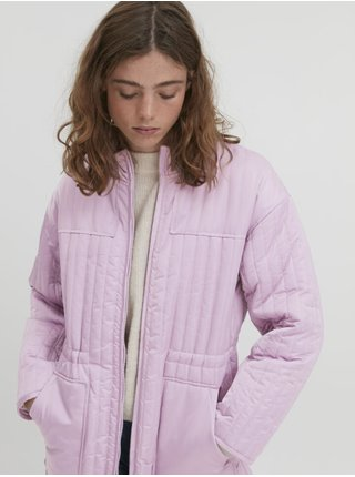 Svetlofialový dámsky zimný kabát ICHI