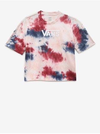Růžové dámské batikované tričko VANS Interrupt