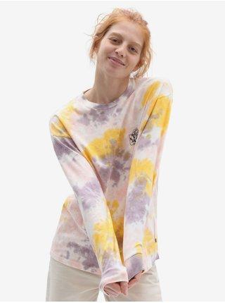Žluto-fialové dámské batikované tričko VANS Mascy