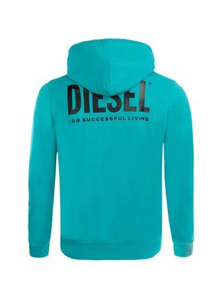 Mikina S-Girk-Hood-Zip-Logo Felpa Diesel