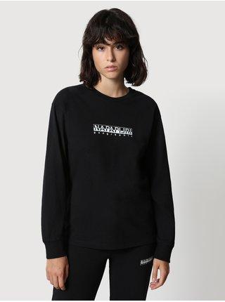 Černé dámské tričko s nápisem NAPAPIJRI S-box W LS 2