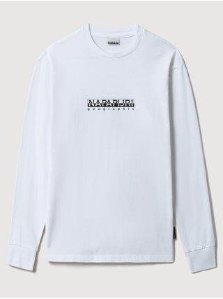 Bílé dámské tričko s nápisem NAPAPIJRI S-box W LS 2