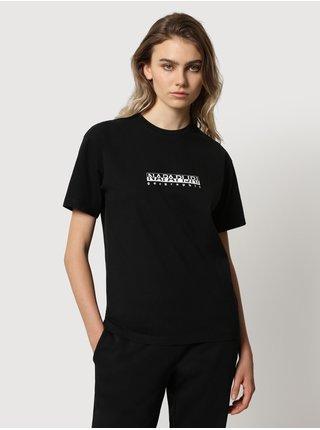 Černé dámské tričko s nápisem NAPAPIJRI S-box W SS 3