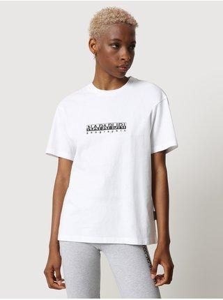 Bílé dámské tričko s nápisem NAPAPIJRI S-box W SS 3