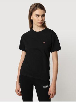 Černé dámské tričko s výšivkou NAPAPIJRI Salis SS W 2