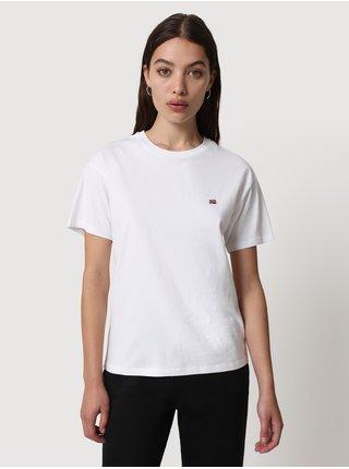 Bílé dámské tričko s výšivkou NAPAPIJRI Salis SS W 2