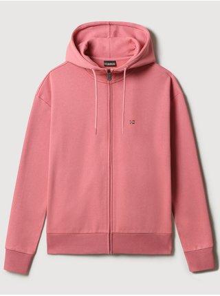 Růžová dámská mikina na zip s kapucí NAPAPIJRI Balis Hood W