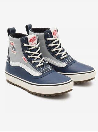 Šedo-modré pánske členkové topánky VANS Standard Mid Snow