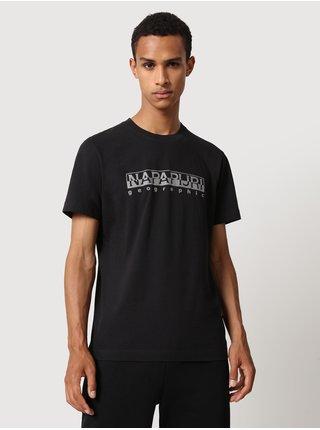 Černé pánské tričko s nápisem NAPAPIJRI Serber print SS