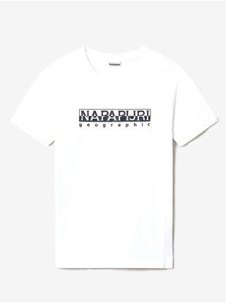 Bílé pánské tričko s nápisem NAPAPIJRI Serber print SS
