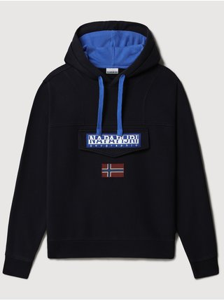 Tmavě modrá unisex mikina s kapsou na zip NAPAPIJRI Burgee Wint 1