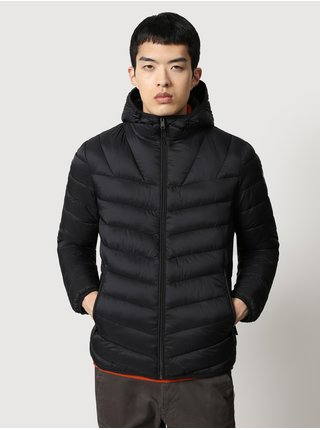 Černá pánská prošívaná zimní bunda s kapucí NAPAPIJRI Aerons H 2