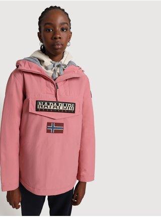 Růžový dámský anorak s kapsou na zip NAPAPIJRI Rainforest W Wint 4