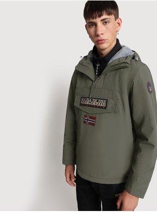 Khaki pánský anorak s kapsou na zip NAPAPIJRI Rainforest Winter 2