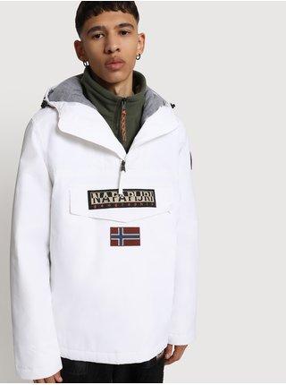 Bílý pánský anorak s kapsou na zip NAPAPIJRI Rainforest Winter 2