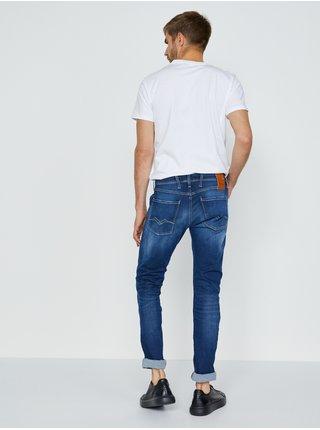 Slim fit pre mužov Replay - tmavomodrá