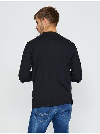 Tričká s dlhým rukávom pre mužov Replay - čierna