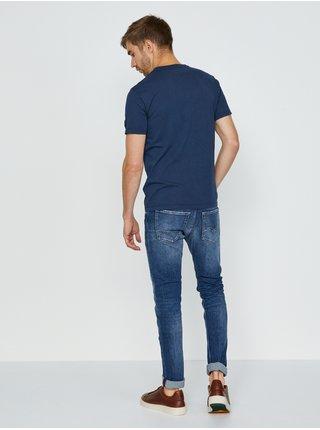 Tmavě modré pánské tričko s potiskem Replay Not ordinary people