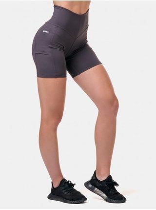 Fialové sportovní kraťasy Nebbia