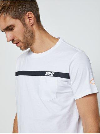 Bílé pánské tričko s potiskem Replay