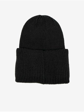 Čierna pánska rebrovaná zimná čiapka Replay