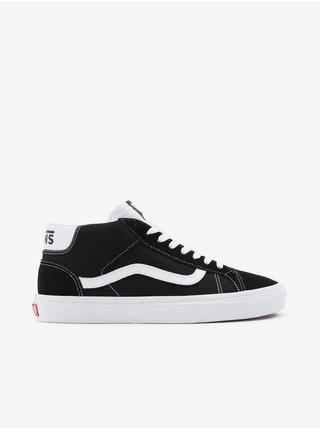 Bielo-čierne pánske semišové topánky VANS Mid Skool