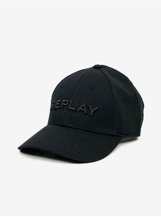 Čierna pánska šiltovka s nápisom Replay